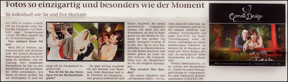Hochzeitsfotograf Falkensee Nauen Brandenburg