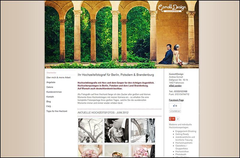 Die neue Website von GomollDesign Hochzeitsfotograf für Berlin und Potsdam