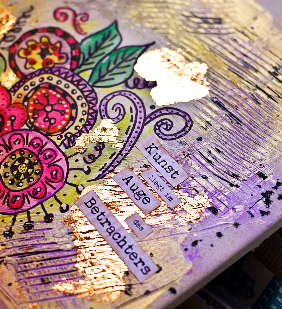 Doodle Canvas Im Mixed Media Stil Video Cre8tive Cre8tions