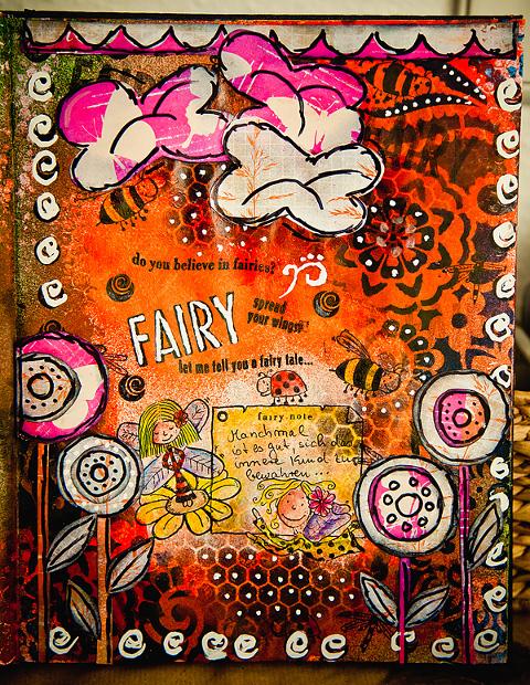 ArtJournal MixedMedia Fairy Collage