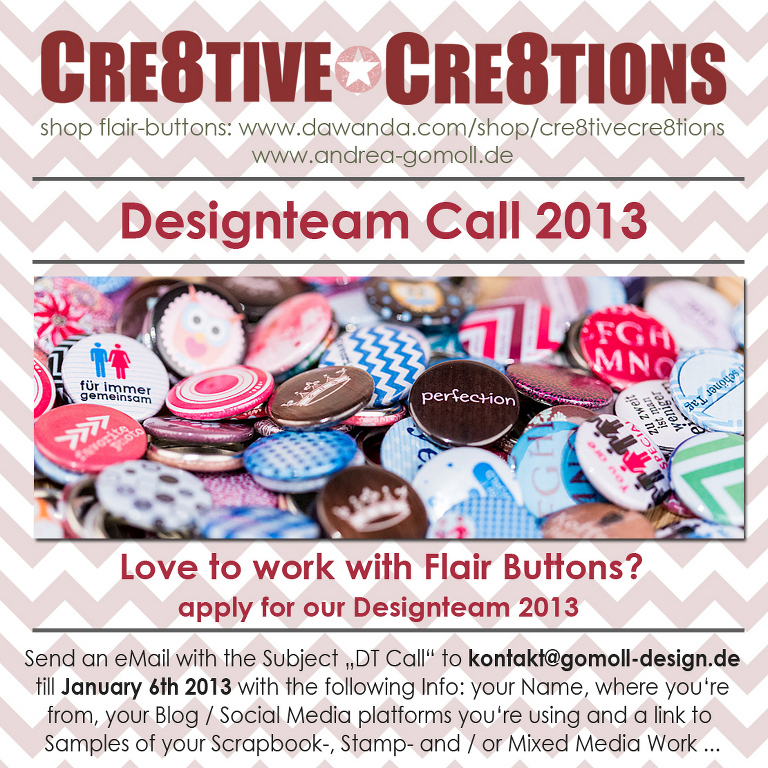 cre8tive cre8tions designteam call 2013