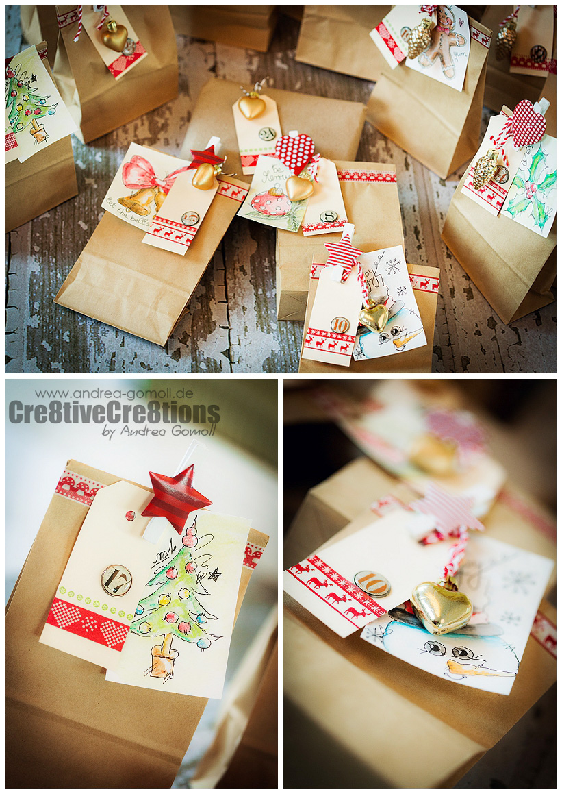 Diy Old Calendar : Diy advent calendar and free watercolor gift tags