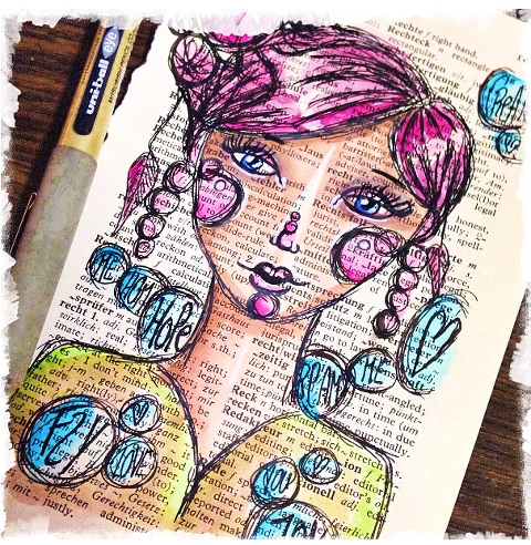 Daily Bookpage Sketch by Andrea Gomoll