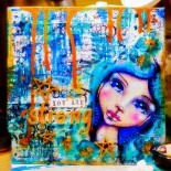 Mixed Media Canvas Facecinating Girls