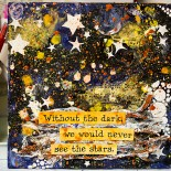 mixed media canvas stars