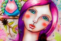 Mixed Media Artjournal Page Andrea Gomoll Girl