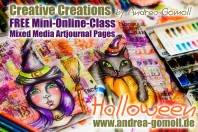 free Mini Online Class - Halloween Artjournal Pages