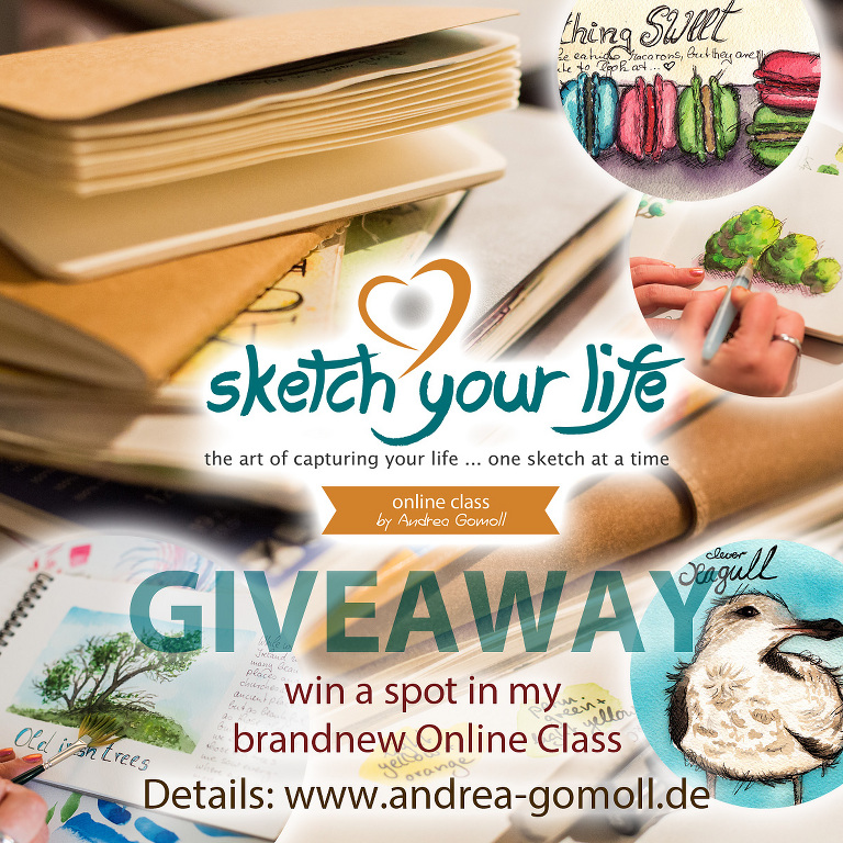 Sketch Your Life Onlineclass Giveaway by Andrea Gomoll