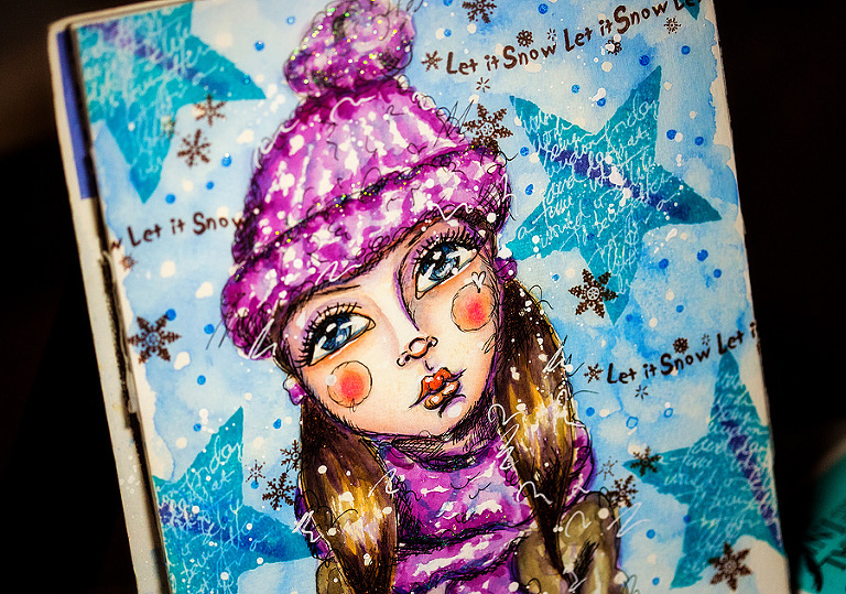 December Daily Artjournal by Andrea Gomoll
