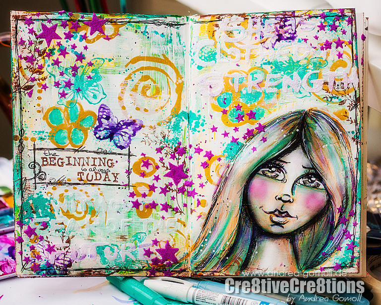 Artjournal Page The Documented Life Project 2015 by Andrea Gomoll