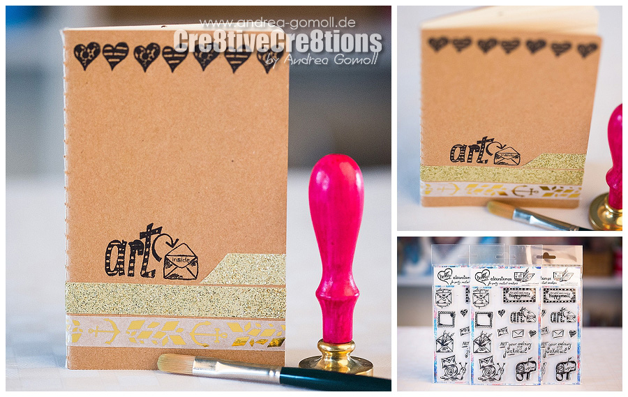 Clearstamps for Mailart, Happymail, Snailmail, Penpals by Andrea Gomoll