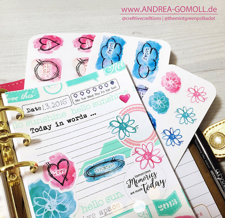 Etsy Andrea Gomoll Sticker Planner Dashboards Inserts
