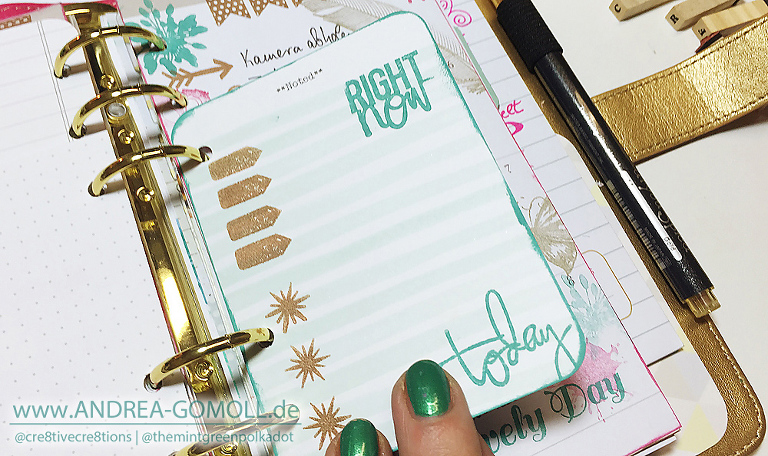 fun ideas for using stamps in planners