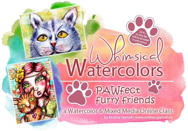Pets Watercolor Class Andrea Gomoll