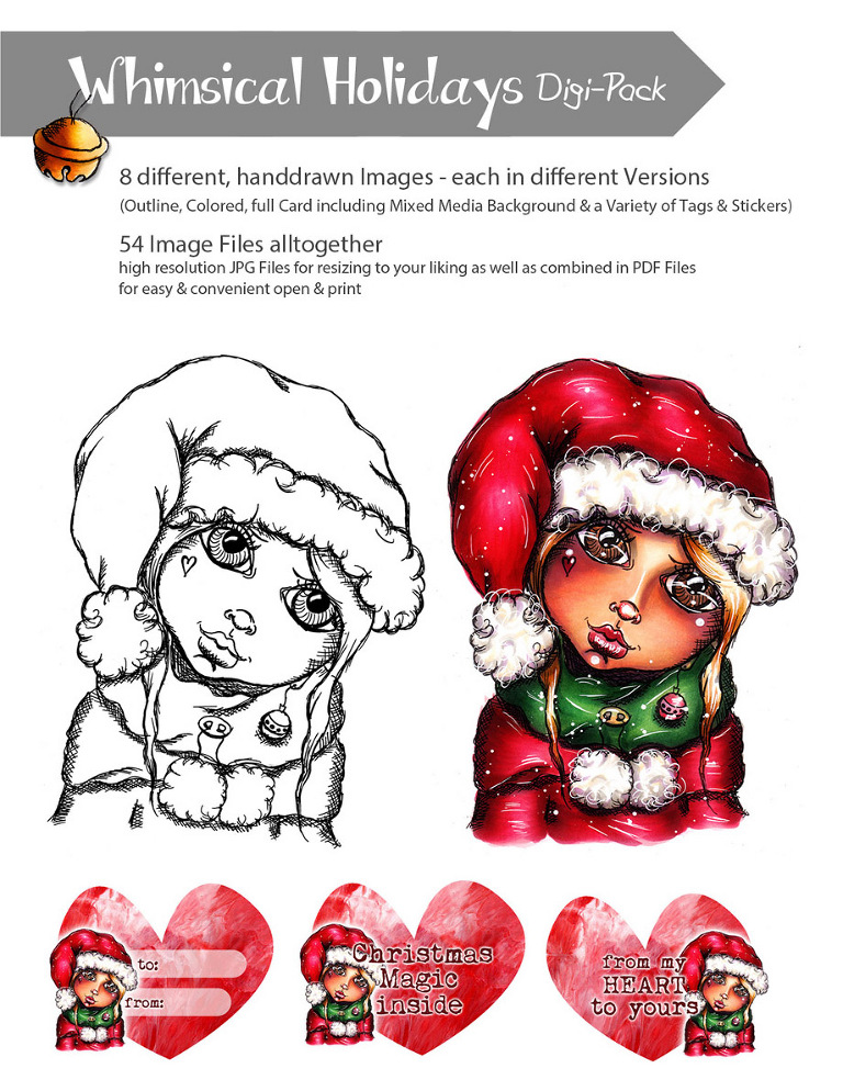 Whimsical Holiday Digi Pack by Andrea Gomoll