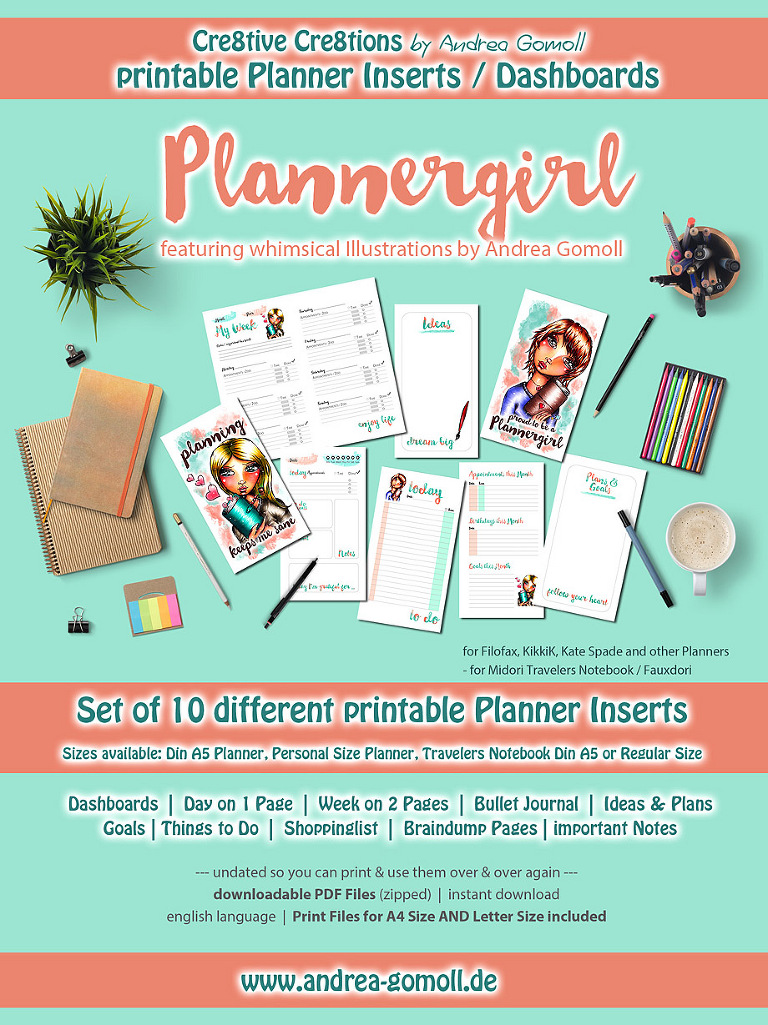 image relating to Midori Traveler's Notebook Printable Inserts known as XXL Fixed of printable Planner Inserts: Plannergirl » Cre8tive