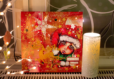illuminated Christmas Canvas Tutorial by Andrea Gomoll