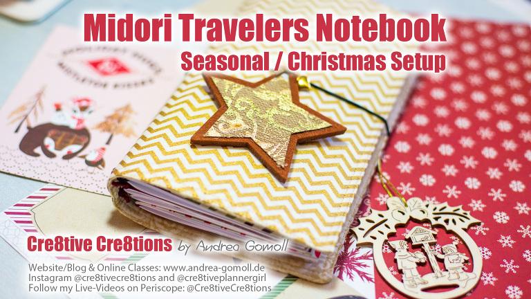 Midori Travelers Notebook Christmas Setup