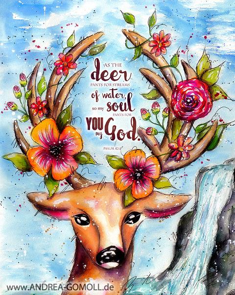 Bible Journaling Challenge-Watercolor Bible Art by Andrea Gomoll #faithart #bibleart