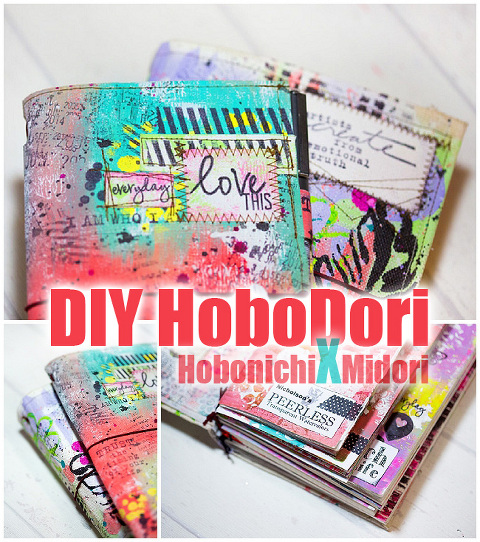 DIY HoboDori-Hobonichi Midori Travelers Notebook Style Planner crossover-Artjournal and daily Sketchbook