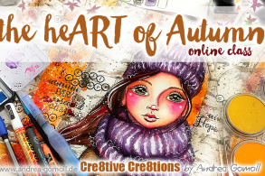 the heART of Autumn - Watercolor and Mixed Media Online Class
