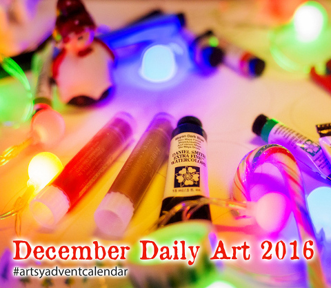 December Daily Art-Artsy Advent Calendar 2016-join for free and create a tiny Sketch with me daily for a Chance to win