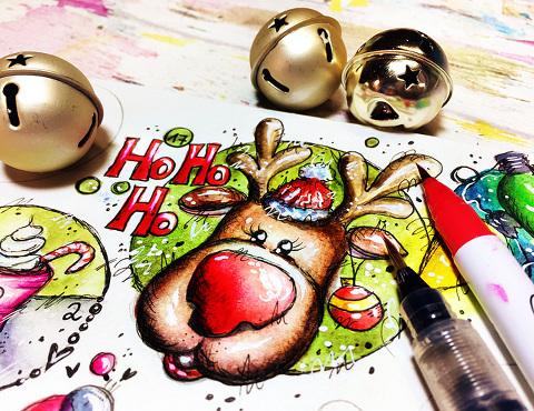 ArtsyAdventCalendar-December Daily Art by Andrea Gomoll