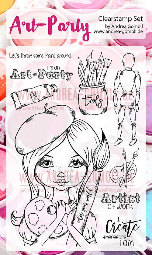 New Clearstamps by Andrea Gomoll 2017 - little Artist