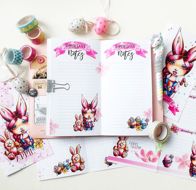 Easter Planner Page Andrea Gomoll