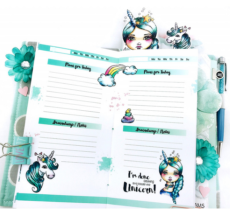 Planner Setup using Cre8tive Cre8tions Designs Clearstamps and Printables by Andrea Gomoll