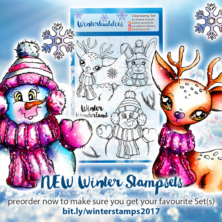Cre8tive Cre8tions Andrea Gomoll Winter Stamps