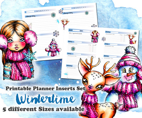 Christmas Planner Inserts by Andrea Gomoll