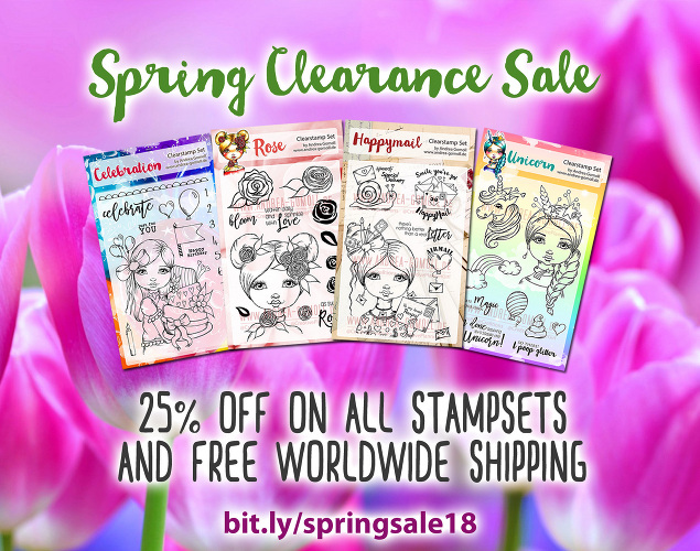 Cre8tive Cre8tions Stamps Spring Sale