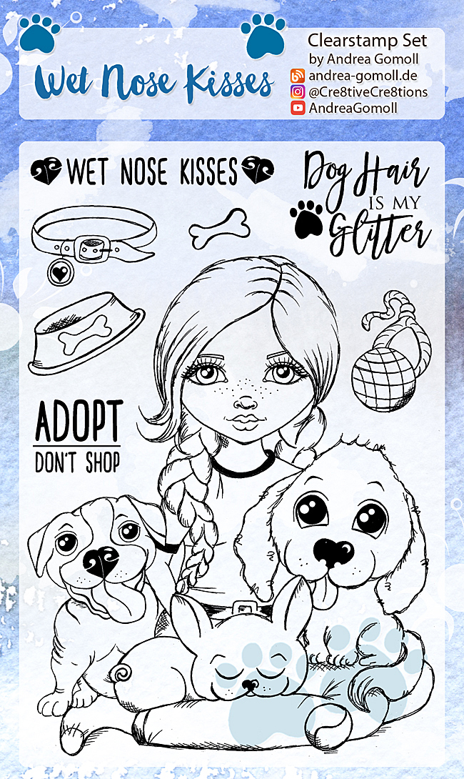 Wet Nose Kisses Stampset