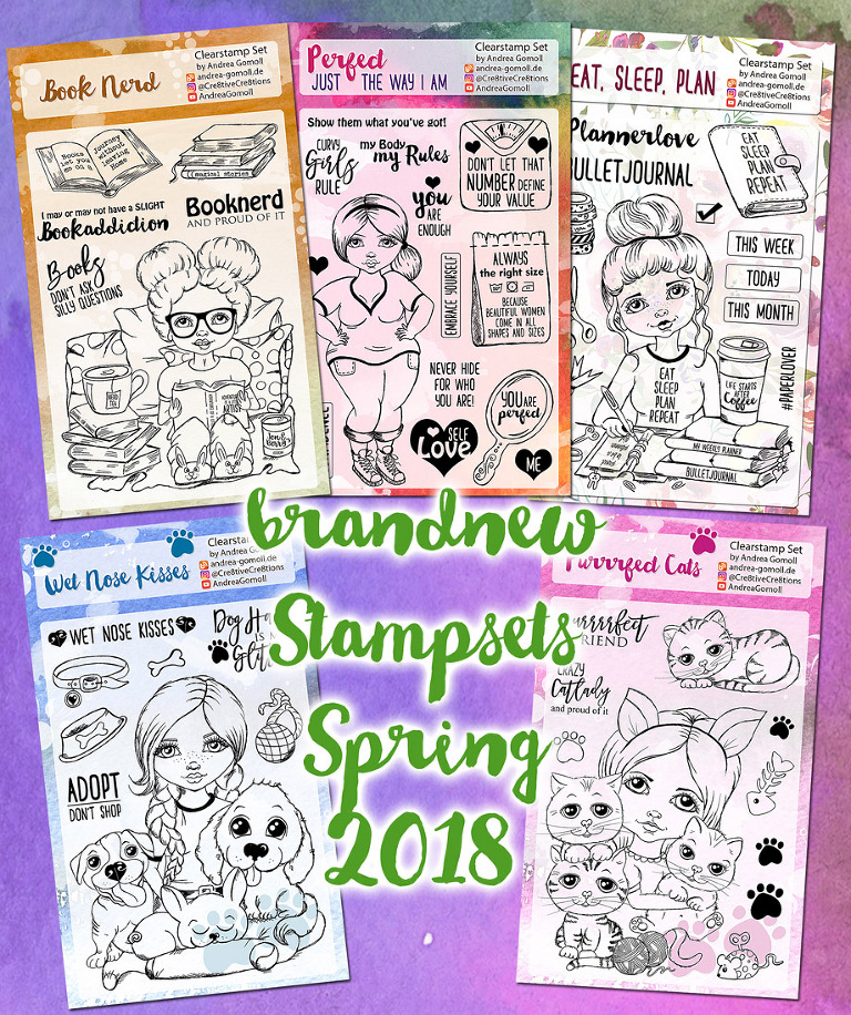 new Clearstamps Andrea Gomoll Cre8tive Cre8tions