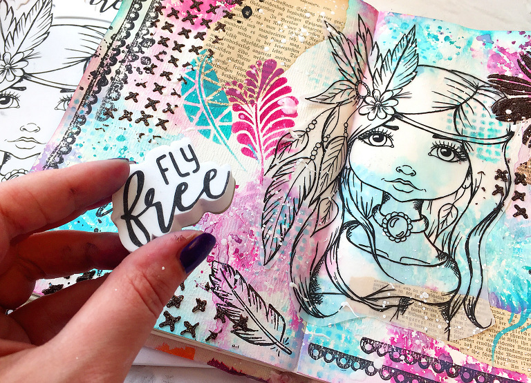 LDRS Artjournal Stamps by Andrea Gomoll