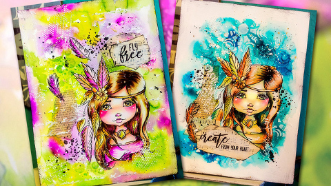 Cre8tive Cre8tions Andrea Gomoll Art Journal Stamps with LDRS Creative at HSN