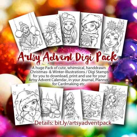 Artsy Advent Calendar 2018 by Andrea Gomoll