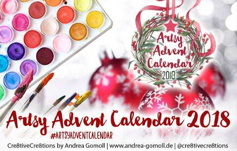Artsy Advent Calendar 2018 by Andrea Gomoll