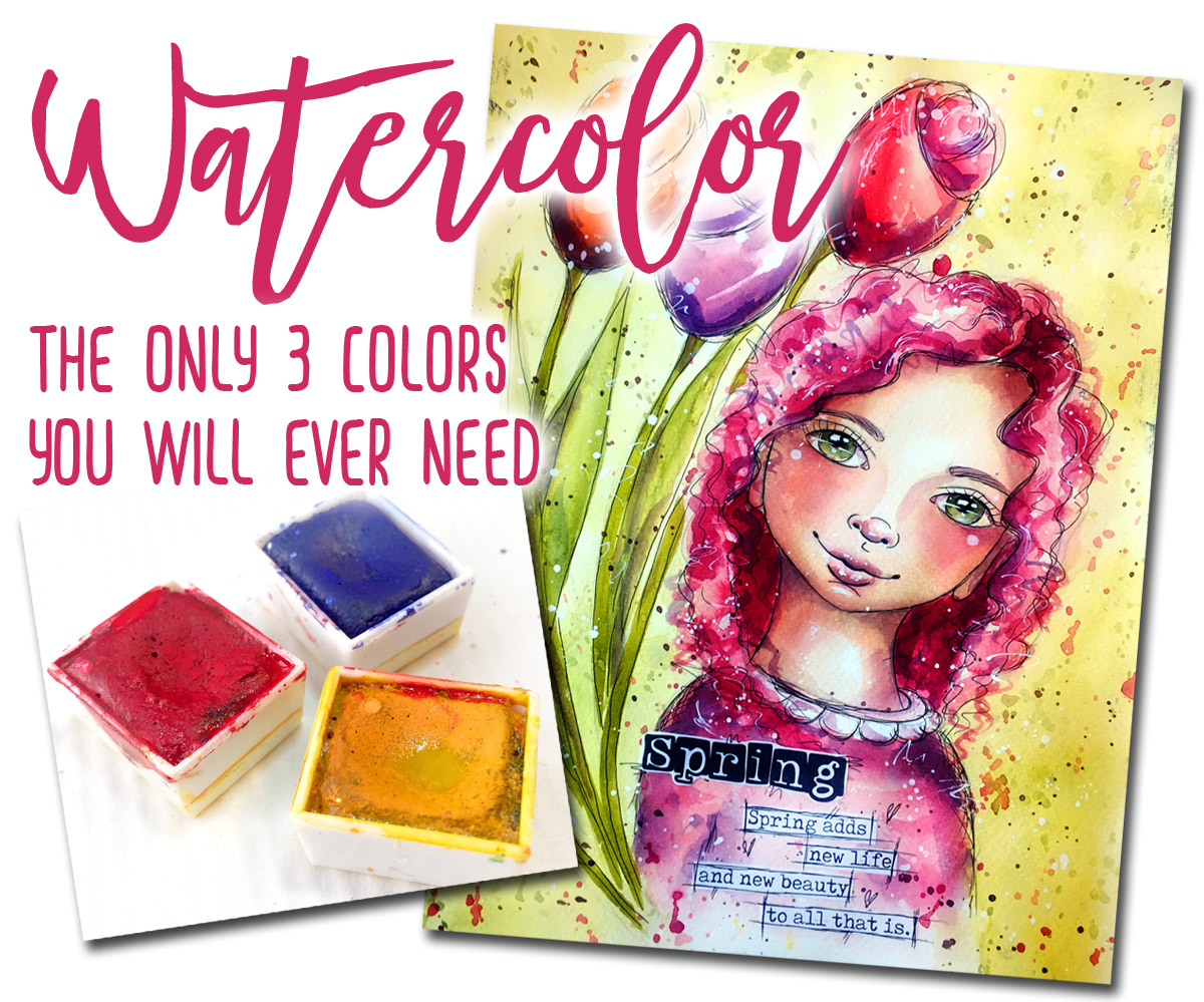 53bab47e6410c Mix It Challenge . . . the only 3 Watercolors you will ever need ...